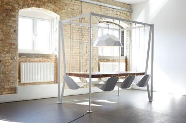 Swing Table, altalene in sala da pranzo!