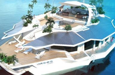 Lusso e comodità su un' isola galleggiante