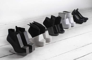 Scarpe che si indossano come sculture