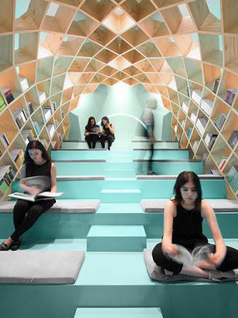 Una libreria-biblioteca a Monterrey