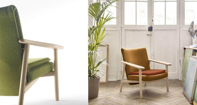 Paleta una poltroncina in stile scandinavo design miss for Divani stile scandinavo