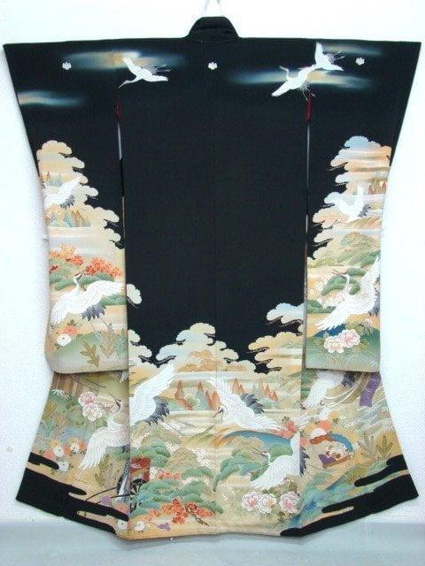 kimono-furisode-paesaggio-cicogne