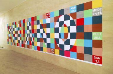 Il Policlinico si apre al design con un murale anti-smog