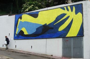 MUR Saint Etienne, il nuovo murale di BILOS