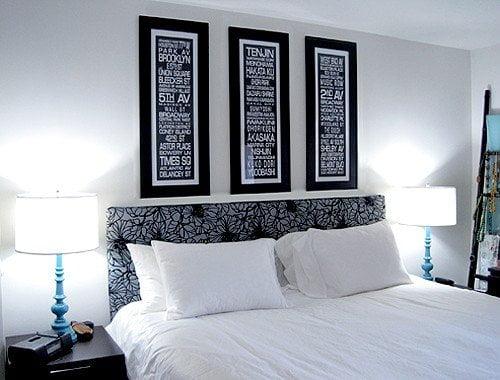 Testata del letto 10 progetti fai da te design miss - Spalliera letto imbottita fai da te ...