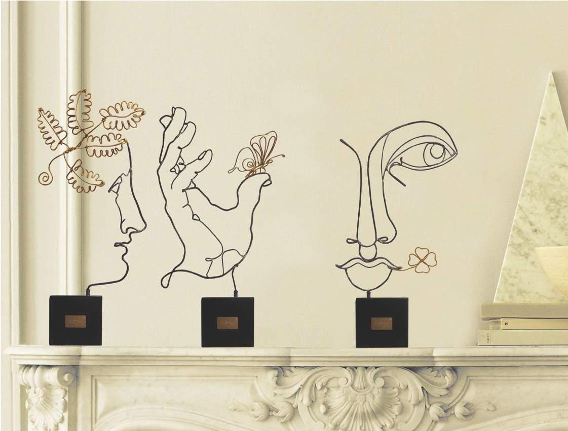 Timidezze Neoclassiche, sculture in filo di metallo