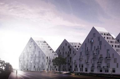 Edifici residenziali nel quartiere Pipera di Bucarest