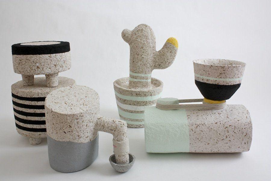 mobili-sculture-carta-riciclata