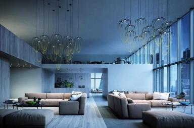 Una collezione di lampade dall'elegante geometria