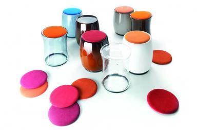 Sistema di pouf tavolini dalle forme inedite, Bolle Soft