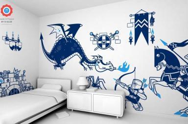 Adesivi murali per le camere da letto dei vostri bambini