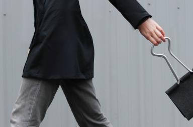 Borsa a forma di clip Peter Bristol Clip Bag