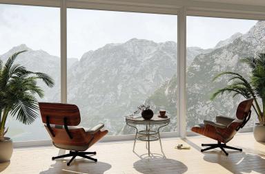 Arredare la casa di montagna in stile rustico moderno