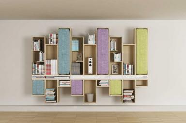 ExMark: la libreria modulare di Li Ving Design Studio