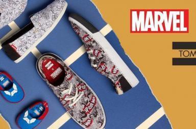 Le scarpe dei supereroi Marvel di Toms