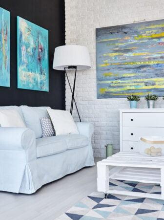 Bianco e nero: l'eleganza in salotto